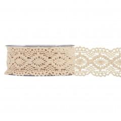 Nastro Crochet mm 45 x 8 mt naturale