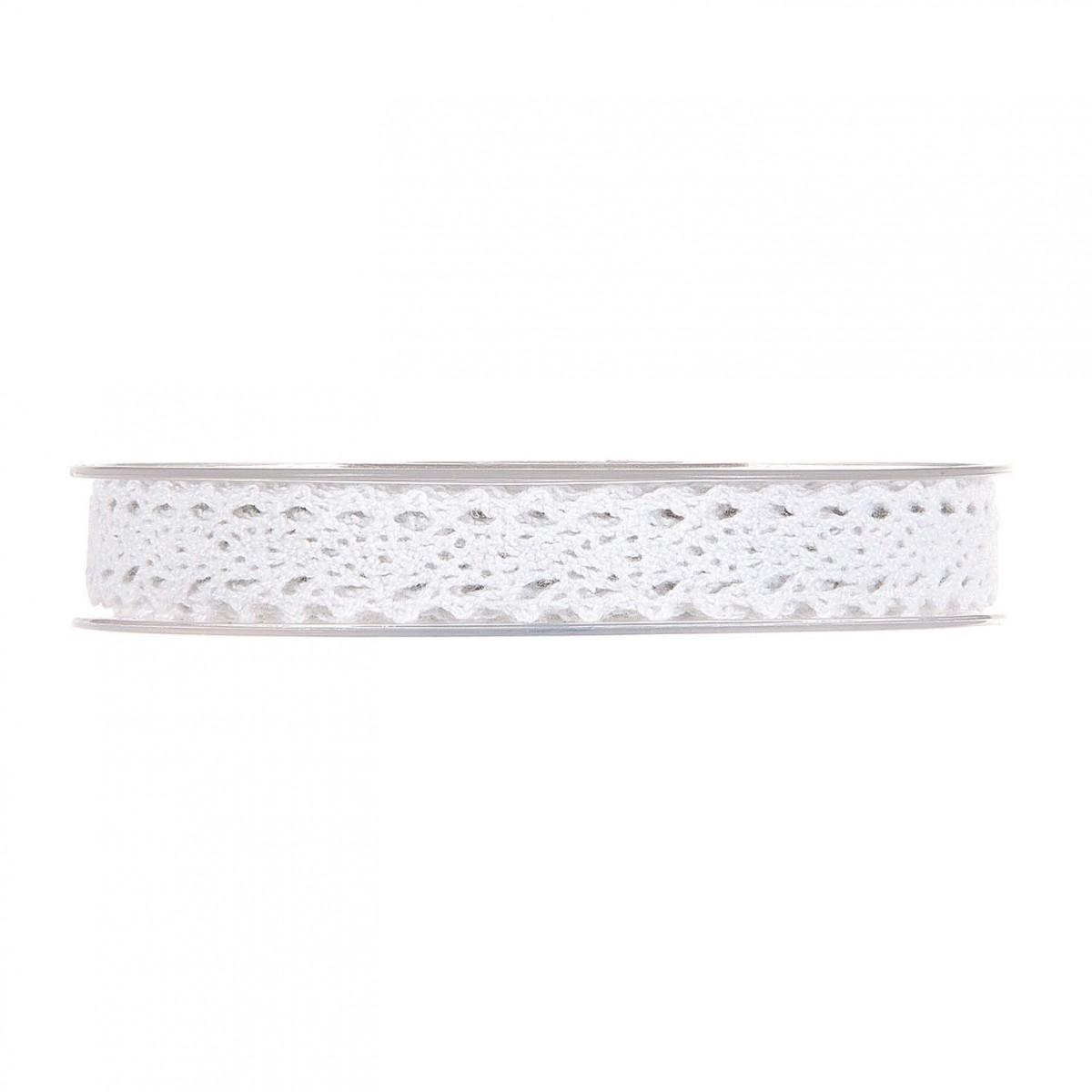 Nastro Small Lace mm 15 x 10 mt bianco