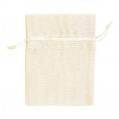 Sacchettino in Tessuto cm 9 x 12 pz.10 beige