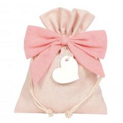 Busta con Fiocco cm 20 x 15 rosa
