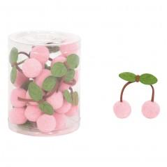 Cherry Pon Pon cm 6 pz.12 rosa