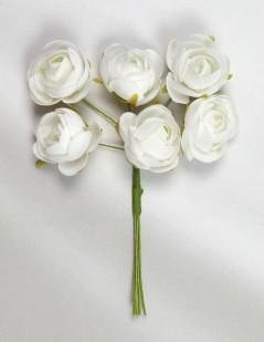 Mazzolino Roselline Baby pz.36 bianco