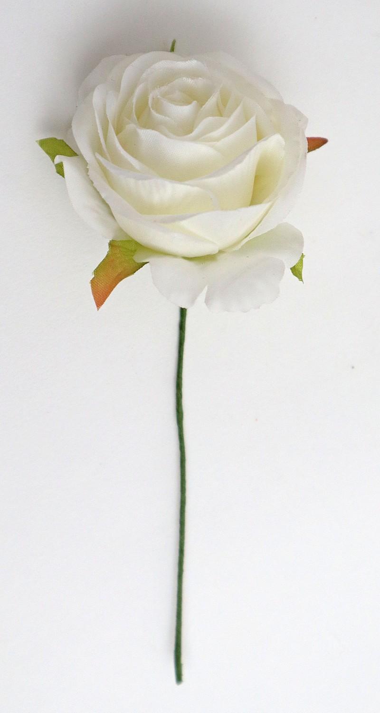 Rosa cm 6 Conf. da 12 pz. Crema