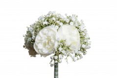 Bouquet Peonie e Gypso bianco