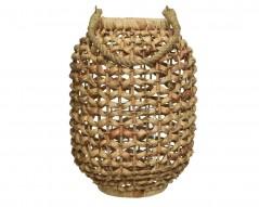 Lanterna in Paglia con vaso D 24 x 33,5