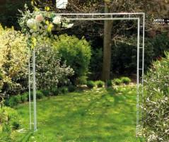 Arco Rettangolare in Metallo bianco cm 230 x 230H