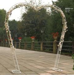 Arco Sposi in Metallo bianco cm 210 x 250