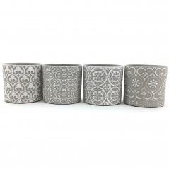 Vaso Cilindro grigio D13,5 x 12,5H