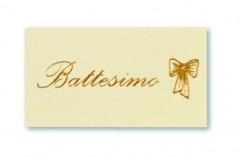 Etichette con scritta Battesimo stampa in Oro blister pz.100