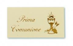 Etichette Prima Comunione stampa Oro blister pz.100