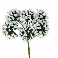 Fiore Pon Pon piccolo bianco pz.36