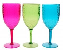 Bicchieri colori assortiti cm 8 x 20