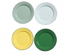 Piatto Metallo D 21 x 1,7 cm colori assortiti