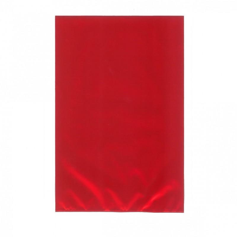 Busta Regalo Polipropilene Colorato Metallizzato Opaco Confezione 50 Pezzi Rosso