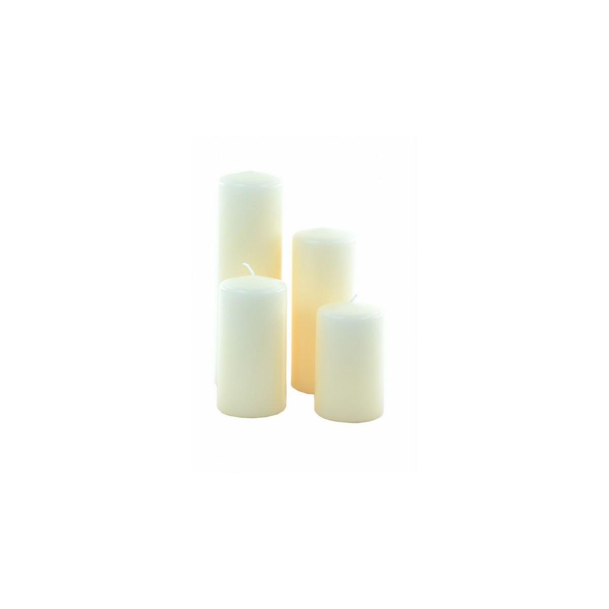 4 Moccoli Laccati da Cm 9-11-14-19 Dm6 Bianco