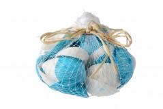 Conchiglie in rete cm 13 x 11 bianco e blu