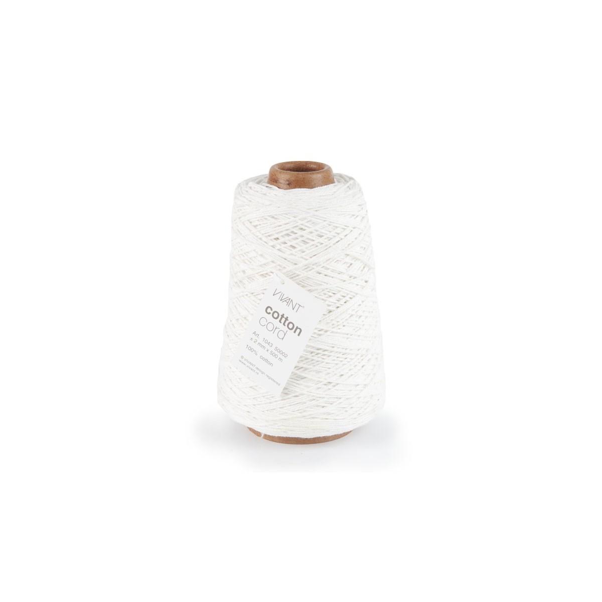 Cotton Cord mm. 2 X 500 Mt. Bianco