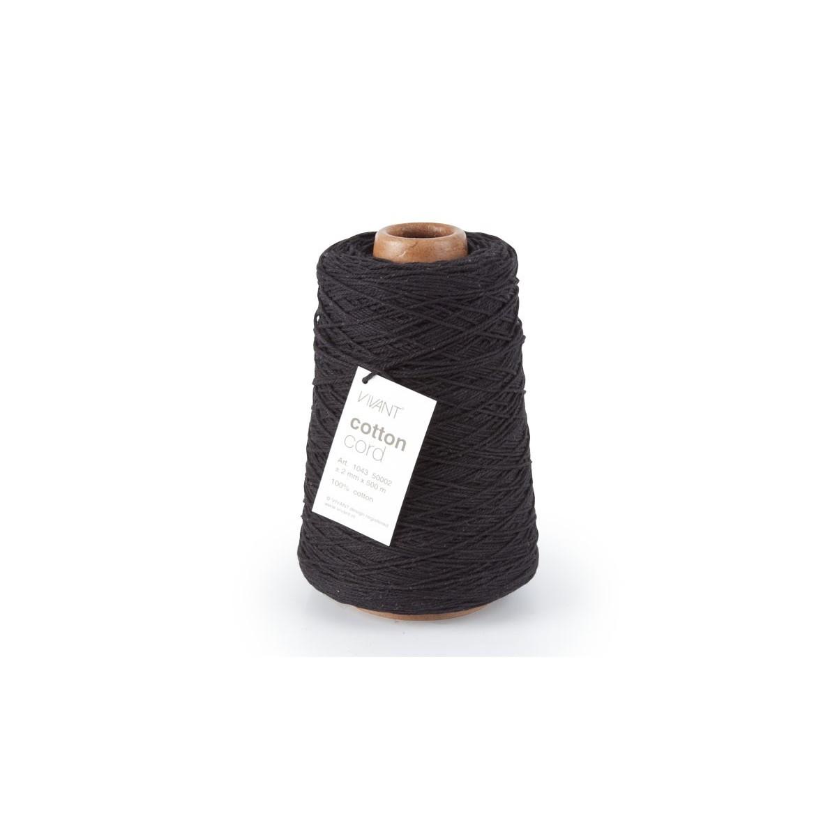 Cotton Cord mm. 2 X 500 Mt. Nero
