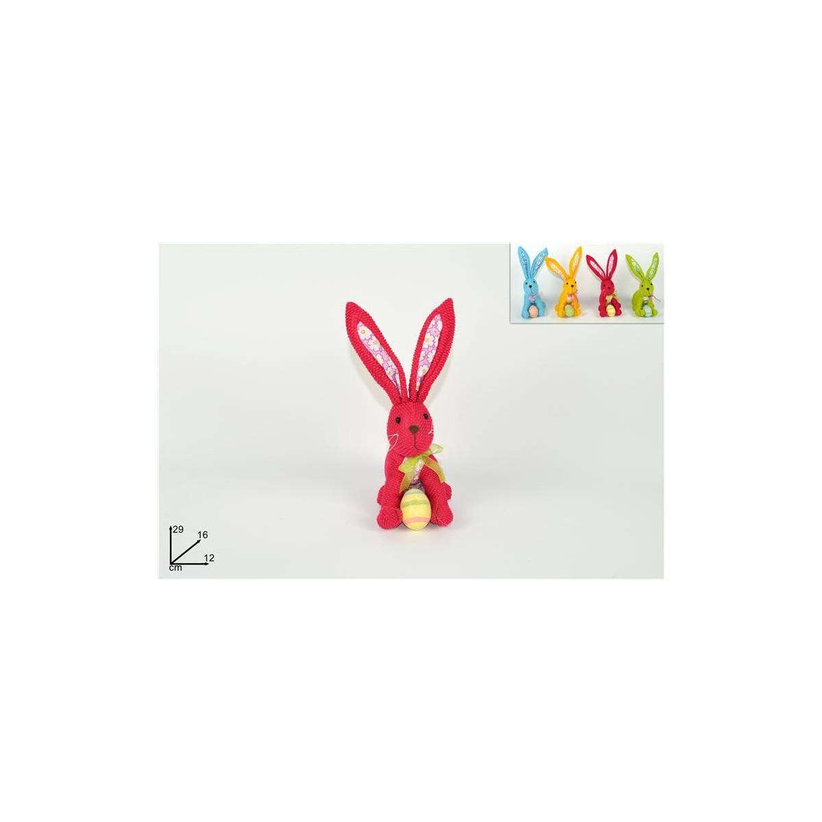 Coniglio Pelouche con ovetti colori assortiti