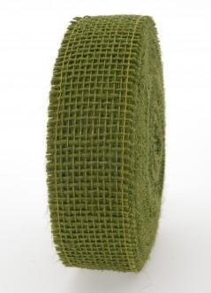Nastro Tessuto di Juta Verde Prato