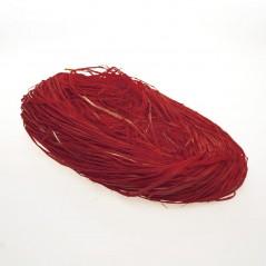 Rafia Naturale Colorata in Busta Rosso