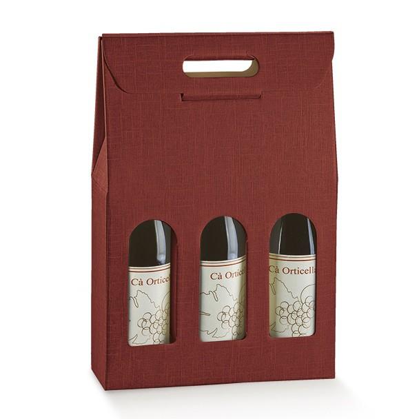 Scatola Vino 3 Bottiglie Con Finestra