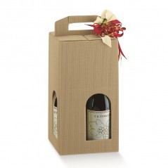 Scatola per 4 Bottiglie in Cartoncino Con Finestra Mm.180x180x340