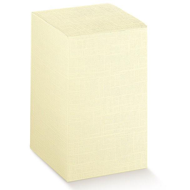 10 Scatoline portaconfetti Avorio Goffrato Base Mm.100