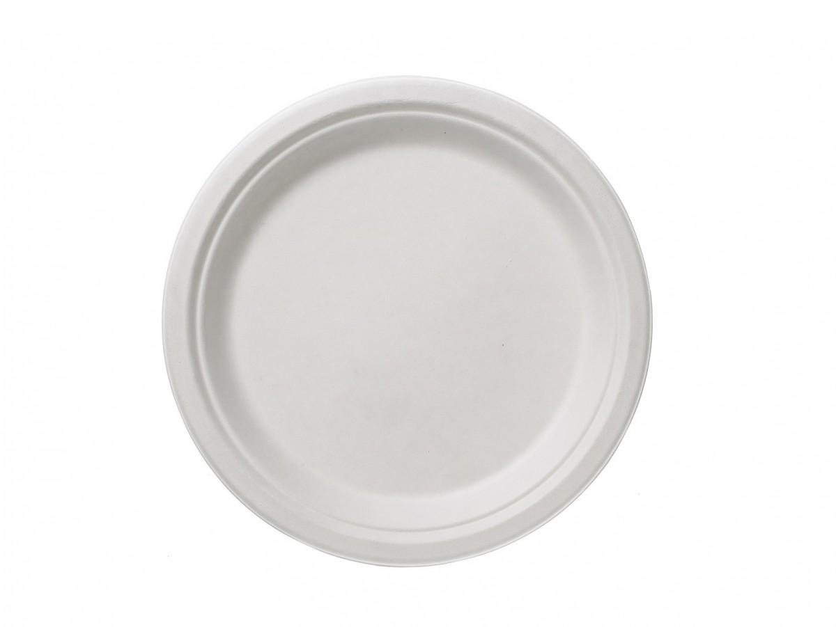 Piatti Rotondi in Polpa di Cellulosa bianca