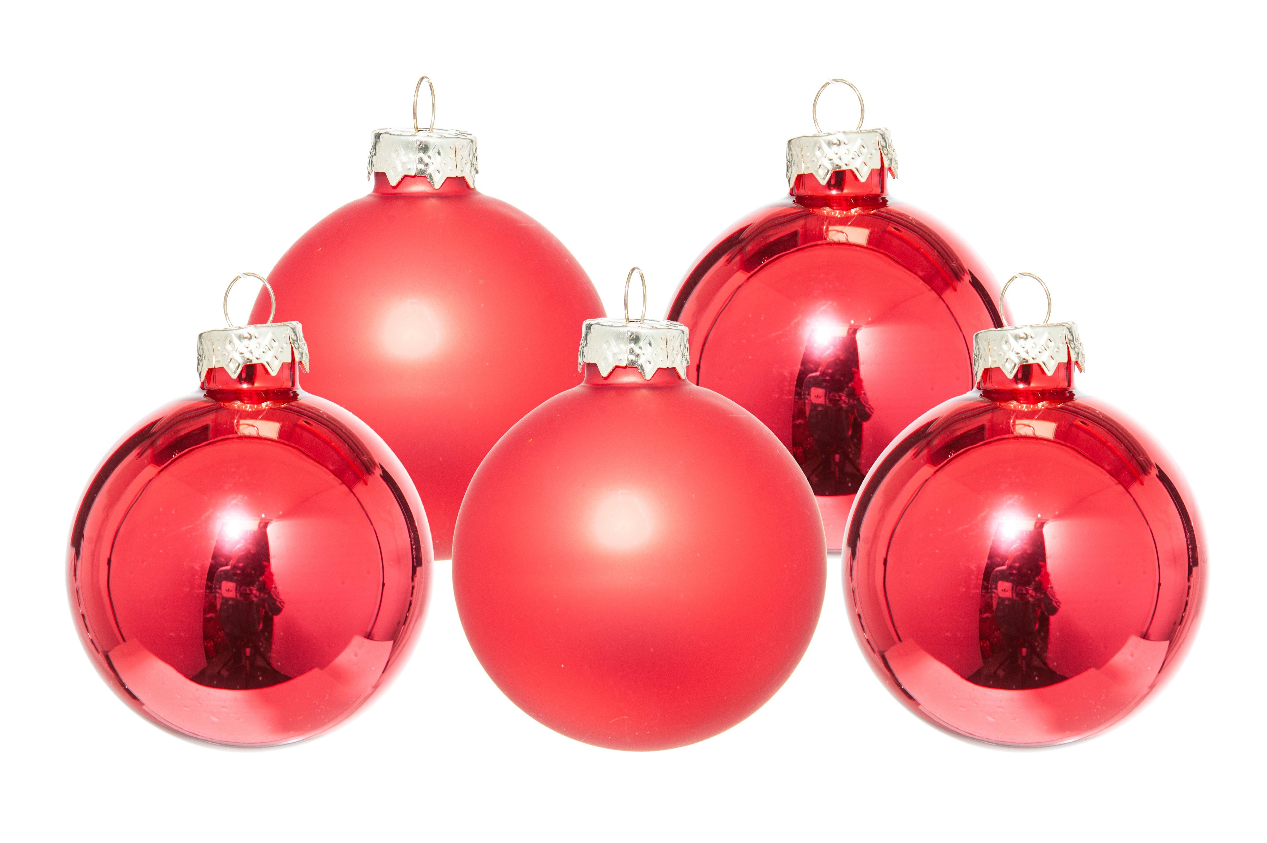 Palline Natale in vetro diametro 100 mm. pz.12