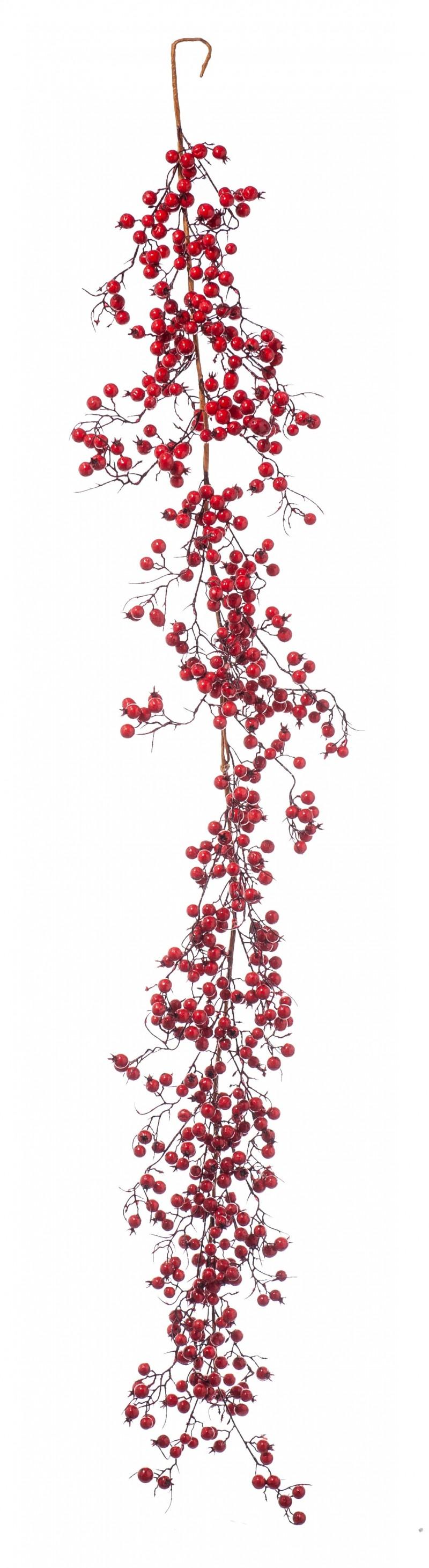 Festone Bacche Rosse cm.165