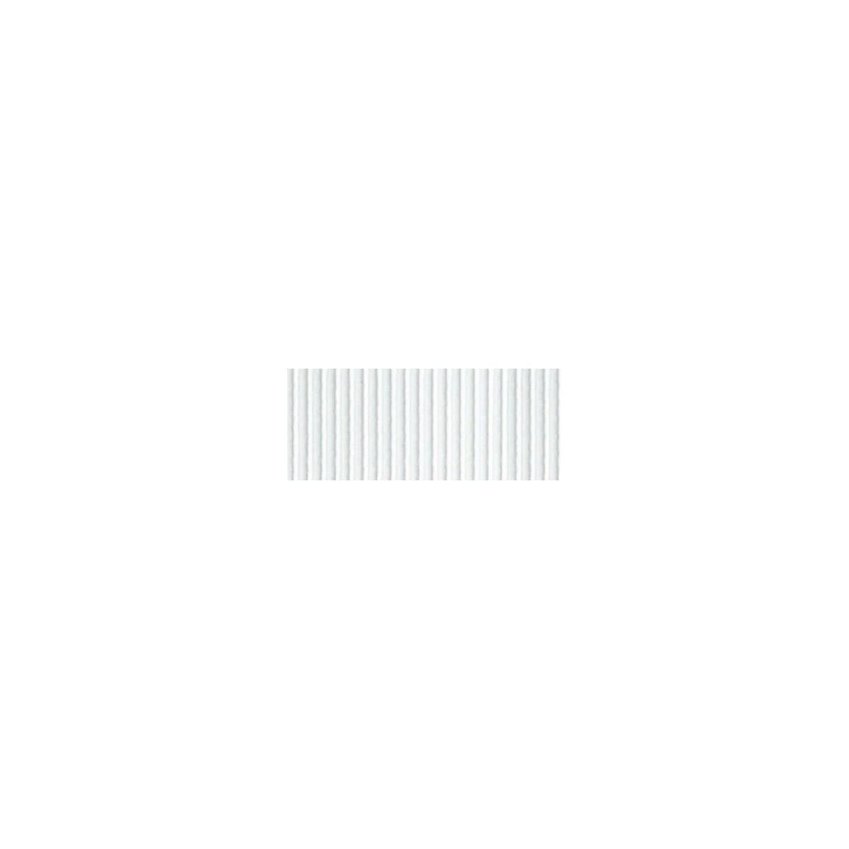 Foglio Cartoncino Onda Colorato Cm.70x50 Bianco
