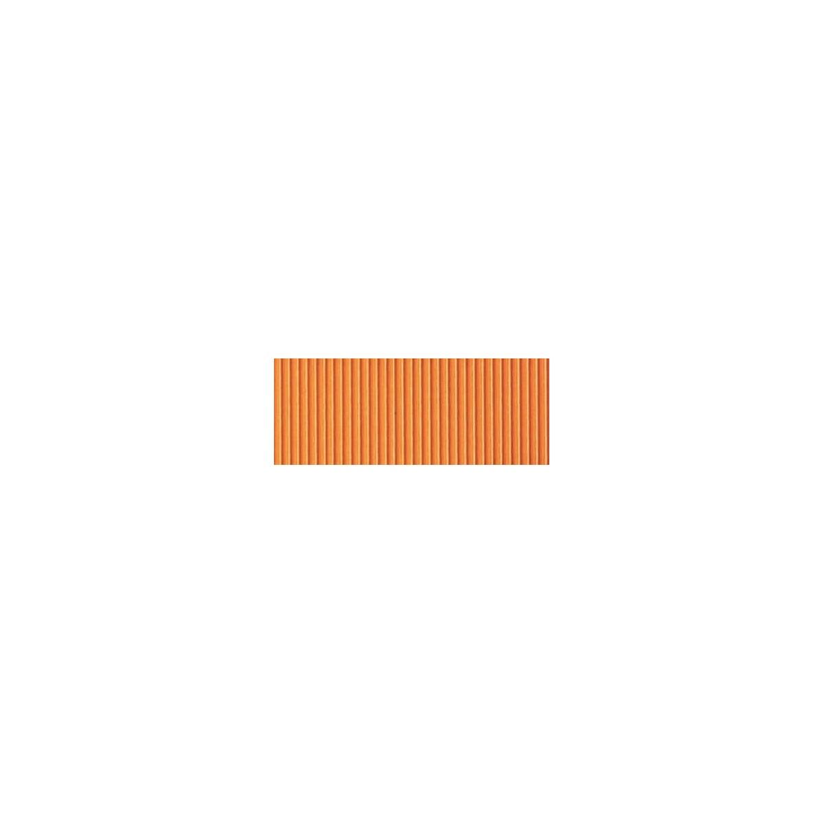 Foglio Cartoncino Onda Colorato Cm.70x50 Arancio