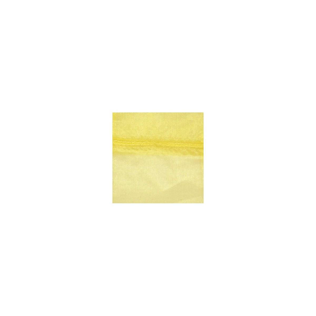 Sacchetto in Organza con Nastrino Confezione 10 Pezzi Giallo