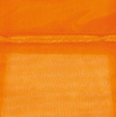 Sacchetto in Organza con Nastrino Confezione 10 Pezzi Arancio