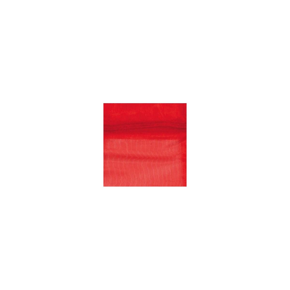 Sacchetto in Organza con Nastrino Confezione 10 Pezzi Rosso