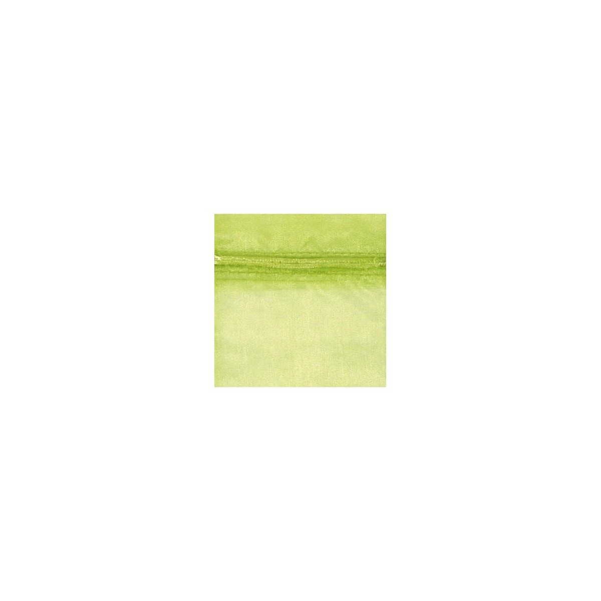 Sacchetto in Organza con Nastrino Confezione 10 Pezzi Verde Mela
