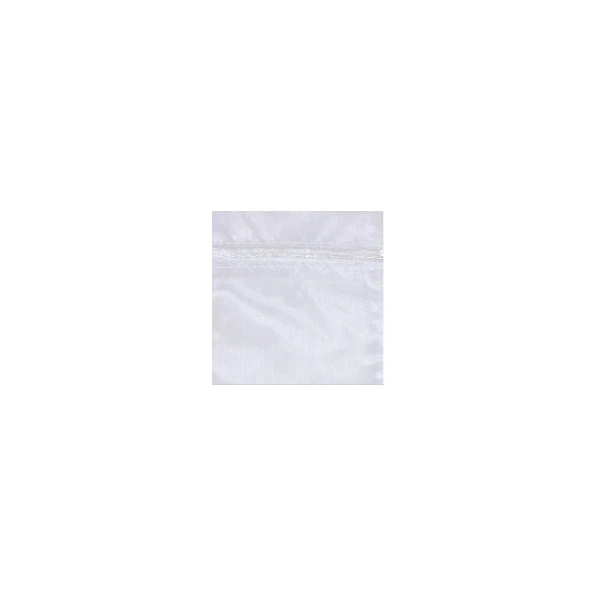 Sacchetto in Organza con Nastrino Confezione 10 Pezzi Bianco