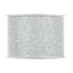 Nastro rete glitter Argento