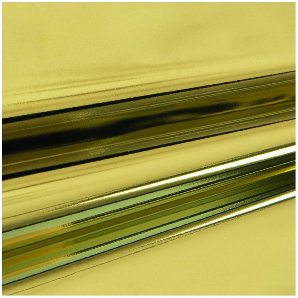 Busta Regalo Polipropilene Colorate Metallizzate Lucide in Confezione da 50/25 Pezzi Oro