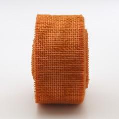 Nastro Tessuto di Juta Arancio