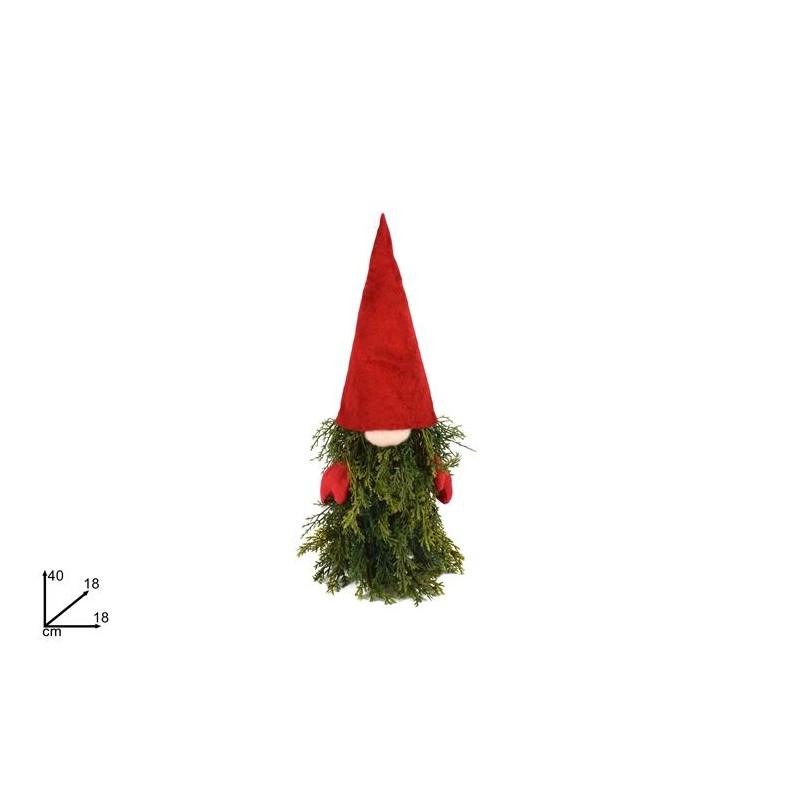 Albero Di Natale 40cm.Gnomo Ad Albero Di Natale 40 Cm Rossi Carta