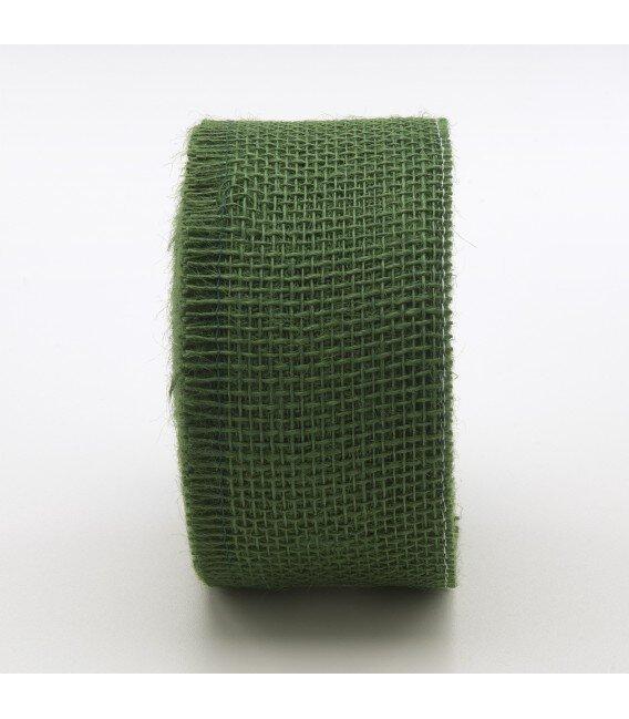 Nastro Tessuto di Juta Verde Pino