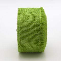 Nastro Tessuto di Juta Verde Mela