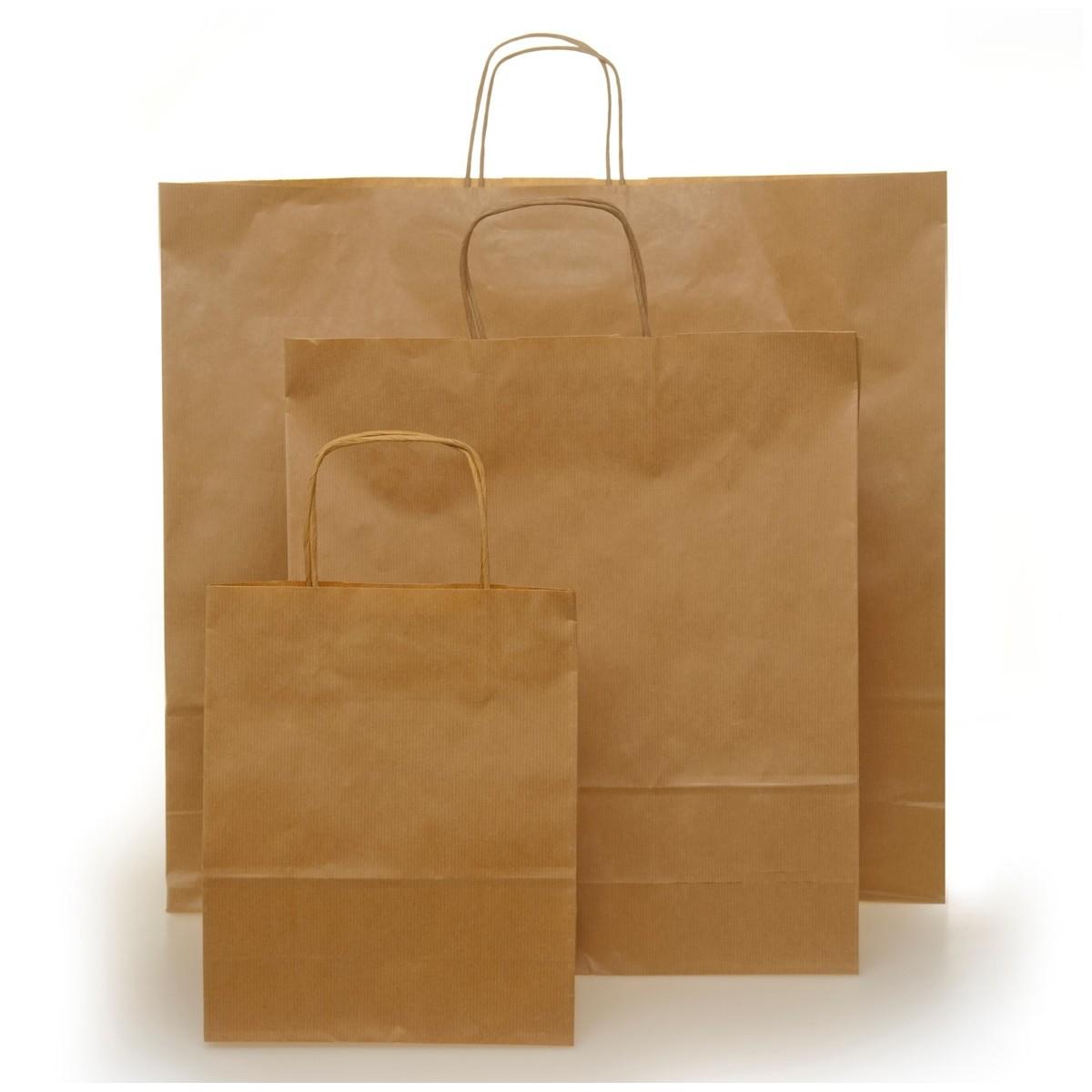 Shopper in Carta Riciclata con Manico a Cordino