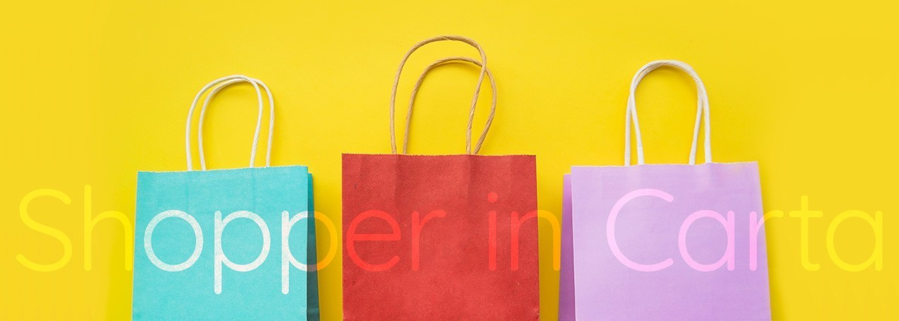 Shopper in Carta con Maniglia Piatta