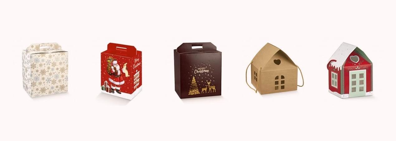 Scatole Porta Panettone e Pandoro per strenne natalizie | Rossi Carta