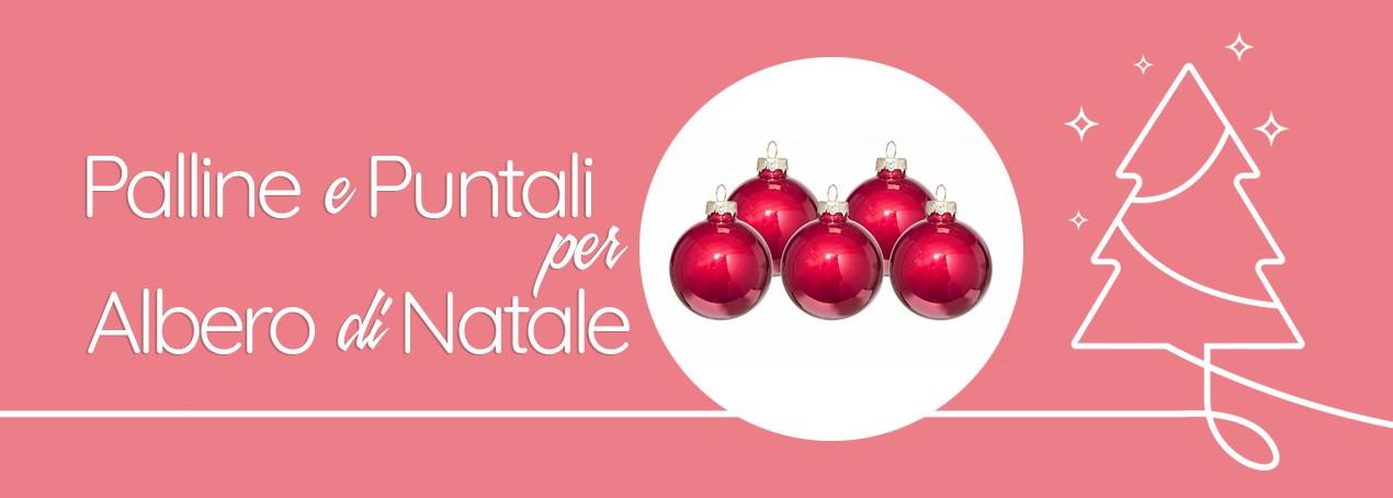 Palline e Puntali per albero di Natale