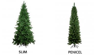 albero di natale normale Slim e Penicel su Rossi Carta